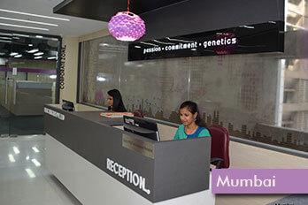 Reception Area – Lilac Insights Mumbai
